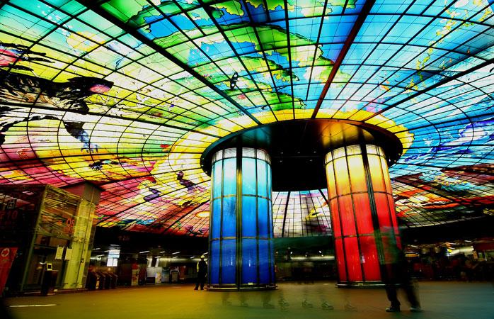 Estación Formosa Boulevard, Kaohsiung, Taiwán.