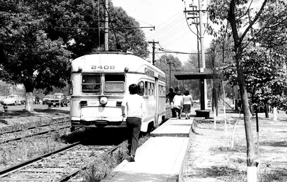 Tranvia en Calzada de Tlalpan : 1980