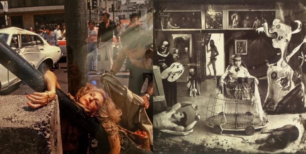 De izquierda a derecha: fotografías de Enrique Metinides y Joel-Peter Witkin