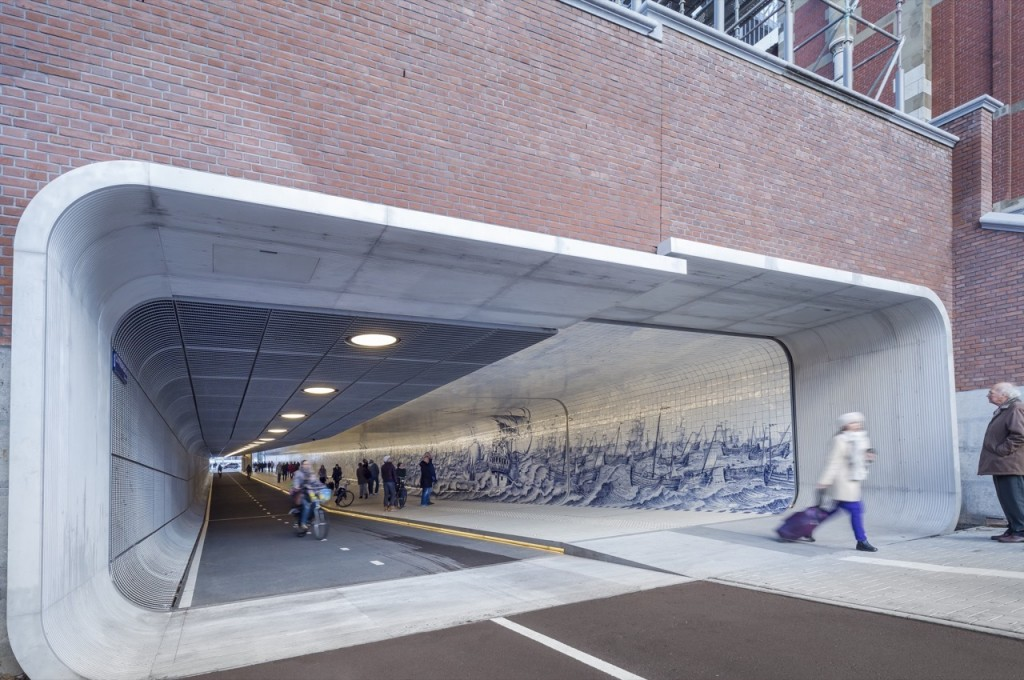 tuneles para ciclistas Cuyperspassage amsterdam 0