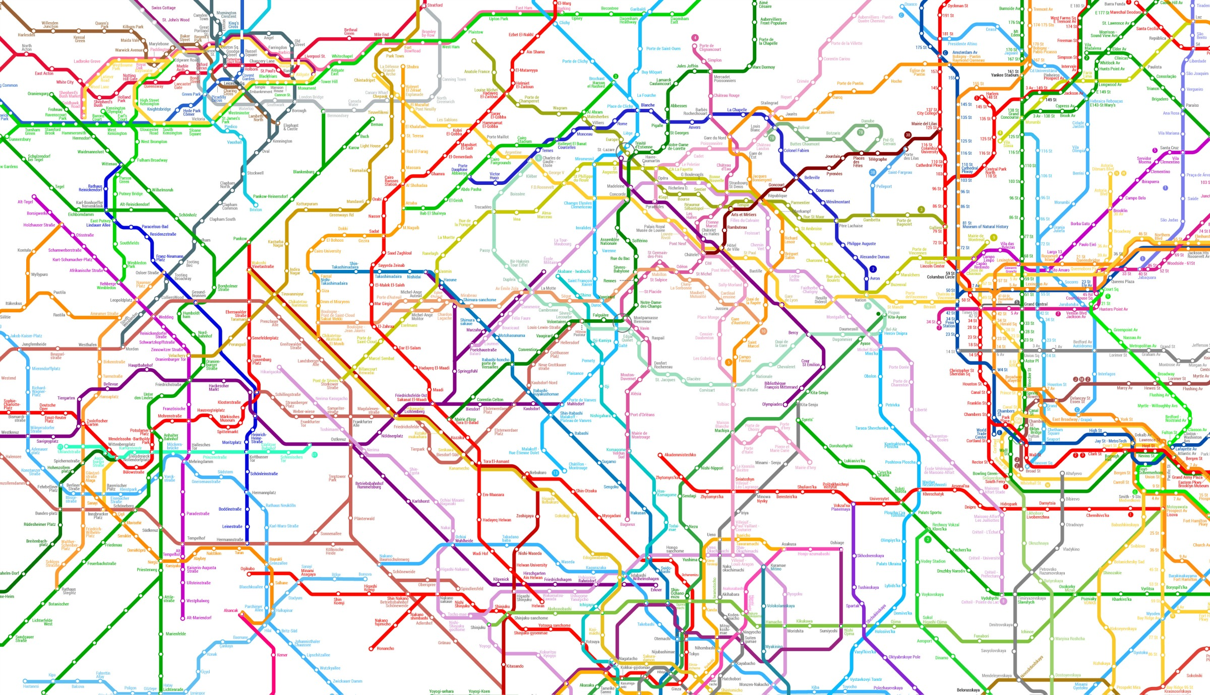 The World Metro Map