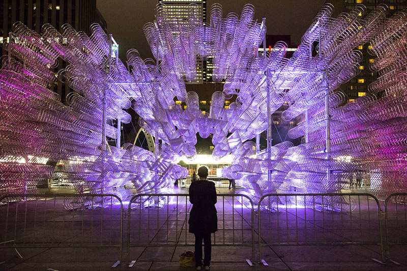 """Forever Bicycles"" / Instalación lumínica de Ai Weiwei"