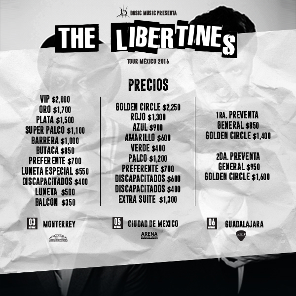 the libertines precios 2016