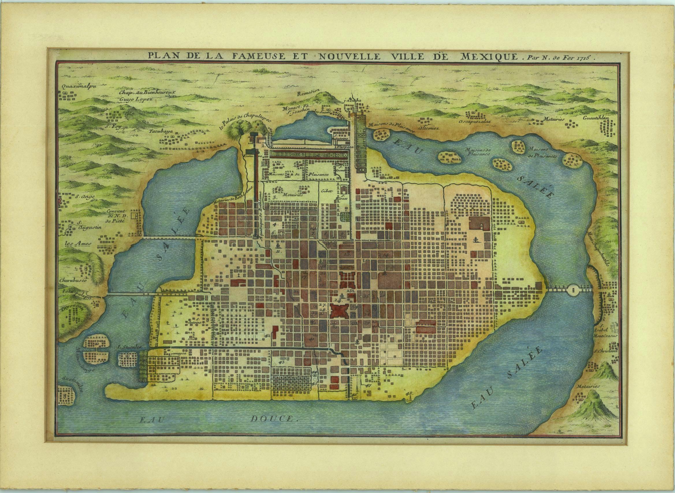 1715 Nouvelle Ville de Mexique
