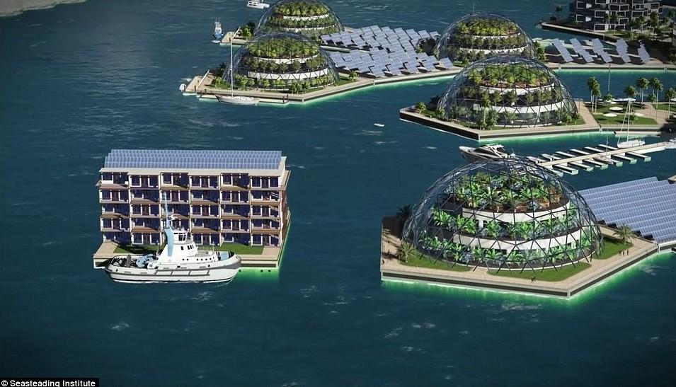ciudades flotantes