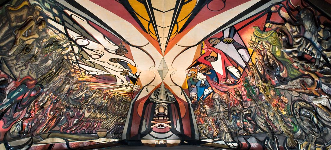 mural del Polyforum Cultural Siqueiros
