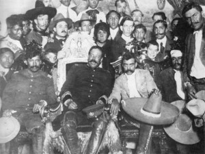 The legendary reunion in 1914 Mexico City between the most acclaimed revolutionary leaders: Villa y Zapata.