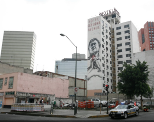 Artista: VHILS. Edificio Dolores, Juárez 26