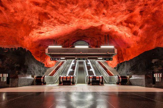 Estación Radhuset, Estocolmo, Suecia.