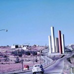 The emblematic Towers of Satélite towards the end of the 1950s