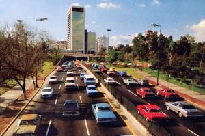Anillo Periférico near Chapultepec in the 1980s