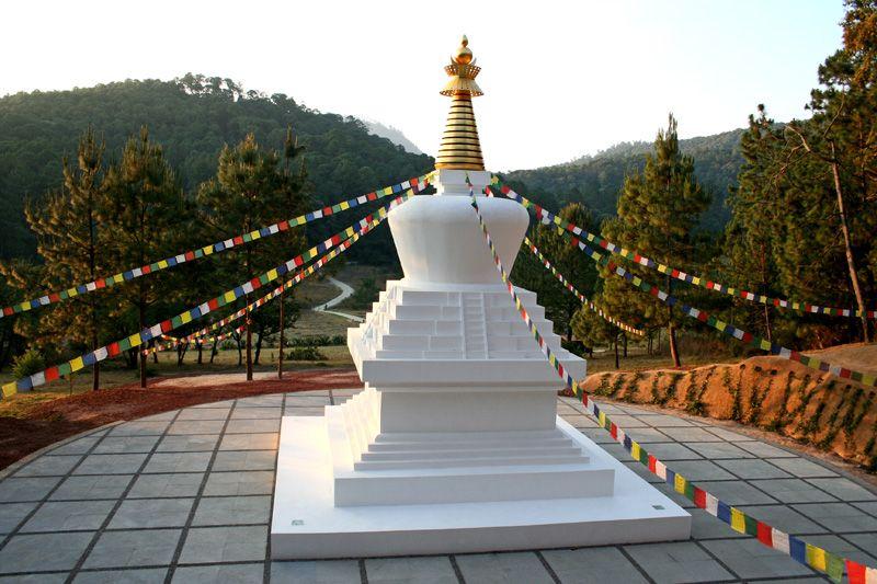 Uno de los imperdibles de Valle de Bravo es la Stupa de la Paz.