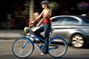 transportarse en bicicleta