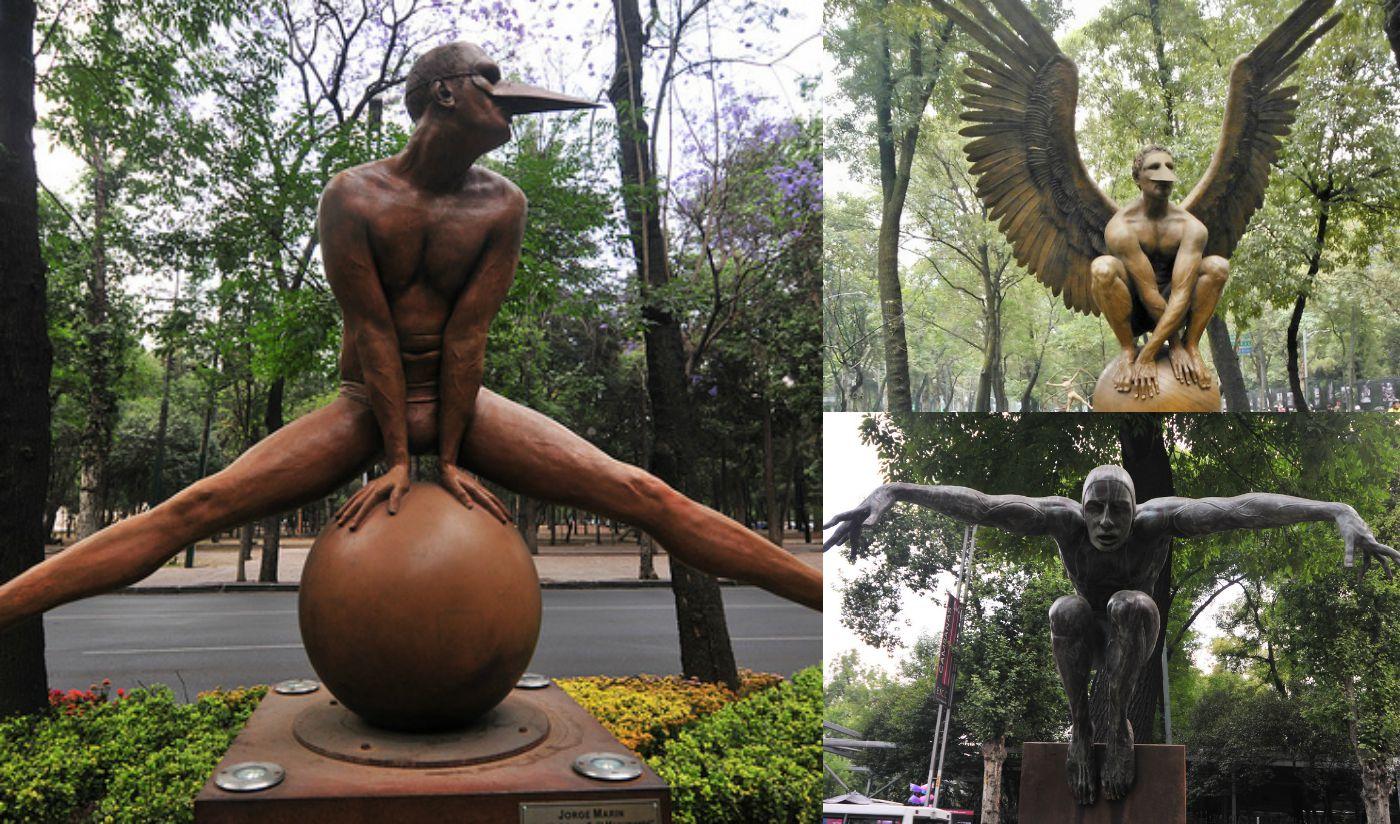 esculturas de jorge martin paseo de la reforma