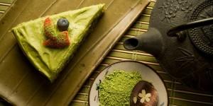 postres preparados con té verde