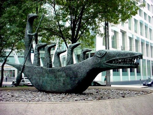 Escultura del cocodrilo Leonora Carrington