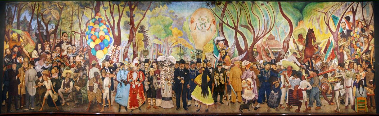 Mexican muralism for Diego rivera creation mural