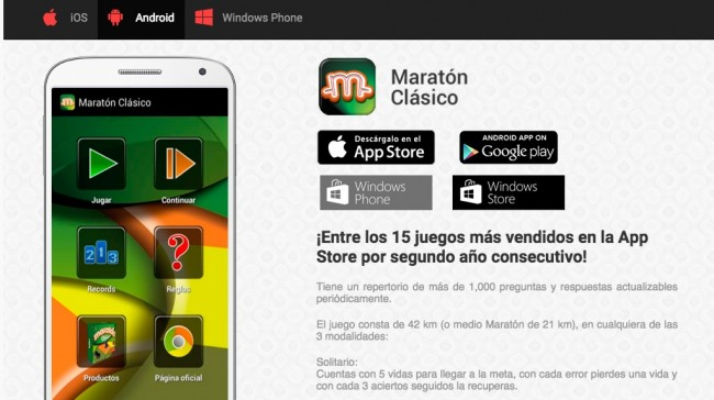 Estrategia tecnologica, Maraton, Apps Mexicanas screenshot