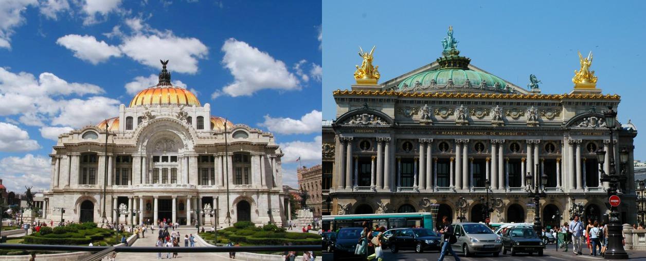 Una serie de monumentos capitalinos que se asemejan a for Arquitectura 7 bellas artes
