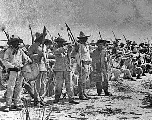 Batallón de Yaquis en el ejercito de Alvaro Obregón.
