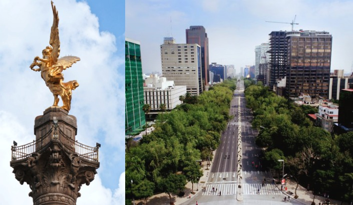 mirador angel de la independencia-mxcity