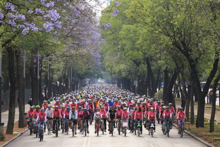 ciclistas ciudad de mexico