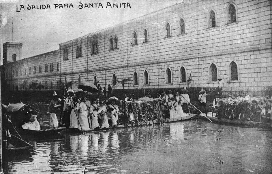 Canal la Viga principios siglo xx
