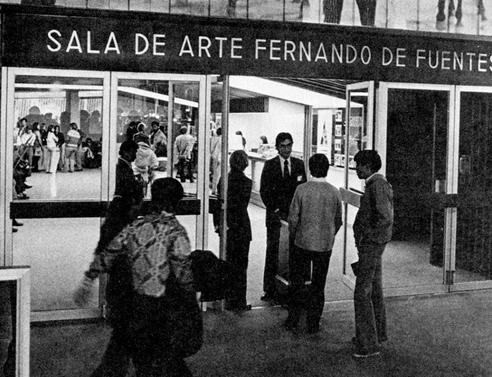 La sala de arte Fernando de Fuentes Cineteca Nacional en 1974
