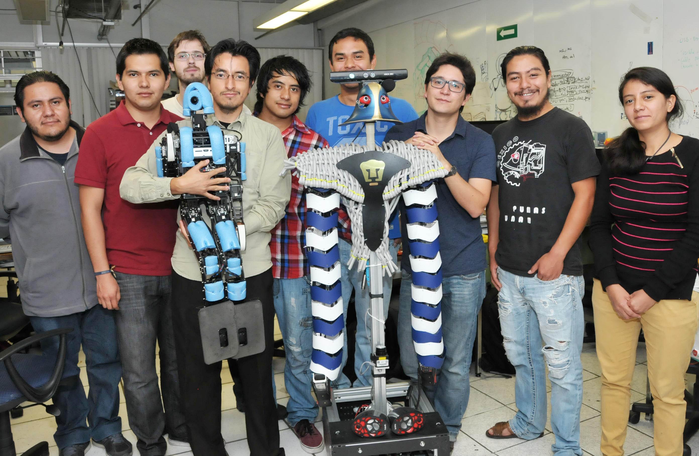 robots diseñados por estudiantes de la UNAM