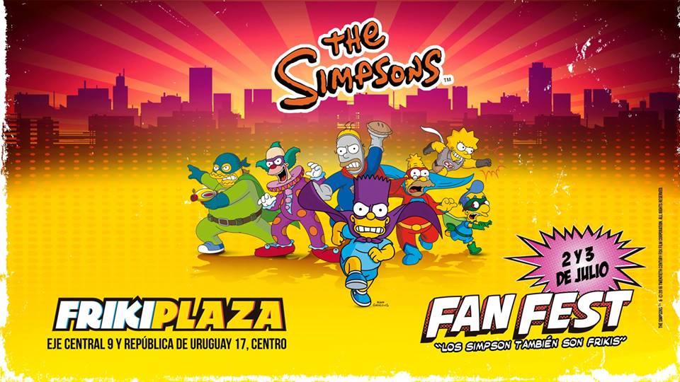 the simpson fan fest ciudad de mexico