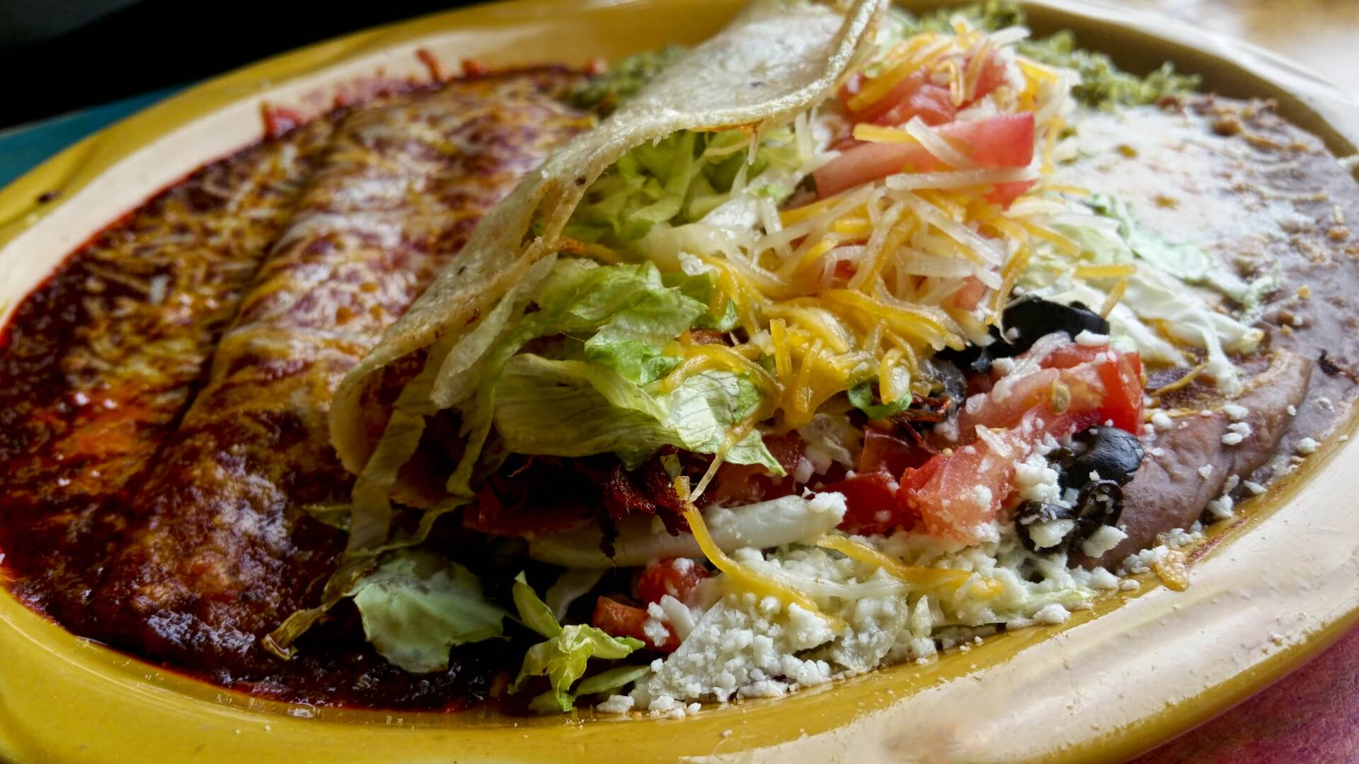 menu del taco