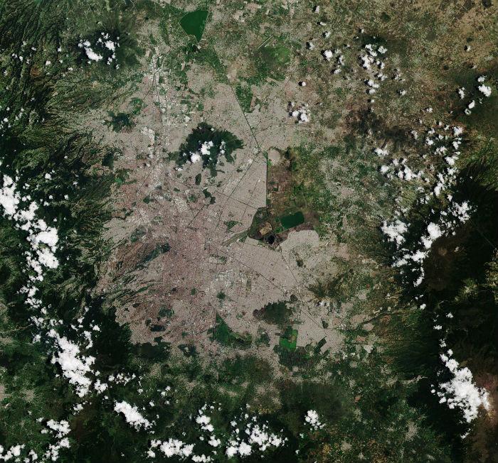 mexico imagenes desde el espacio ciudad de mexico