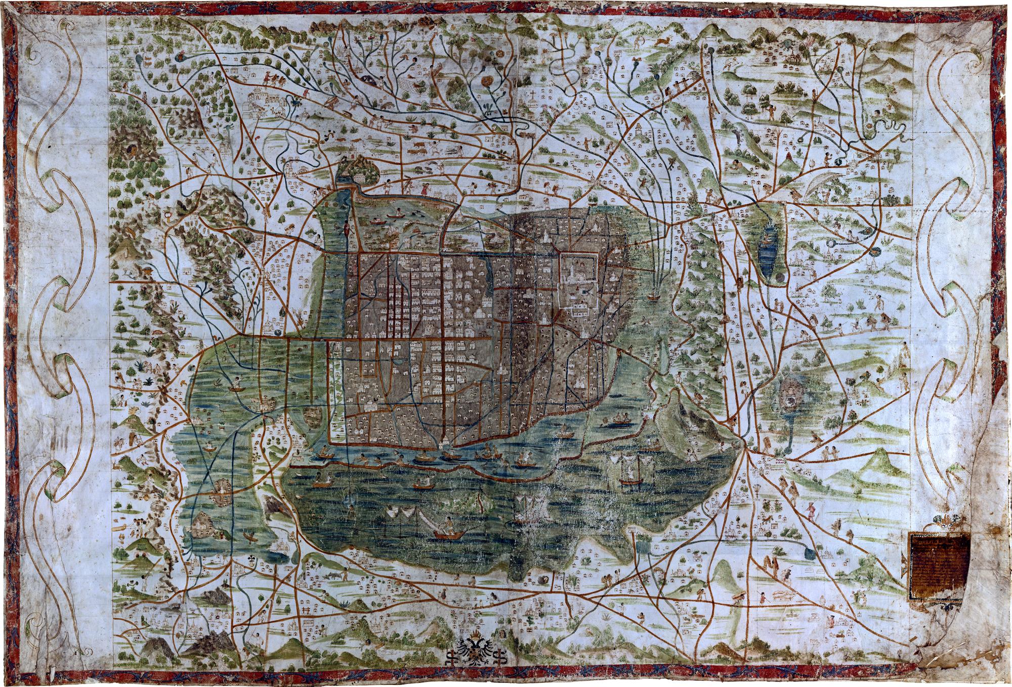 1555 Mapa Upsala Ciudad de México Santa Cruz Alonso de 101