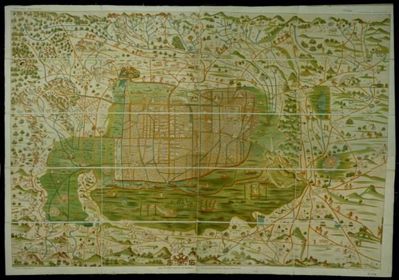 1555 Mapa Upsala Ciudad de México Santa Cruz Alonso de 102