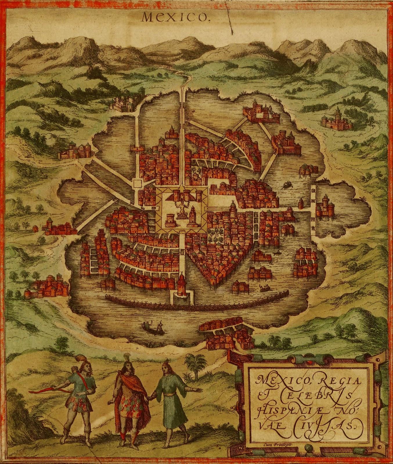1572 Ciudad de México Urbanización Flandes 1572, basado en mapa 1524
