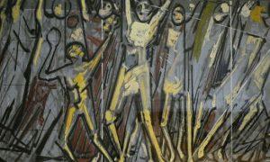 obra pintada carcel david alfaro siqueiros