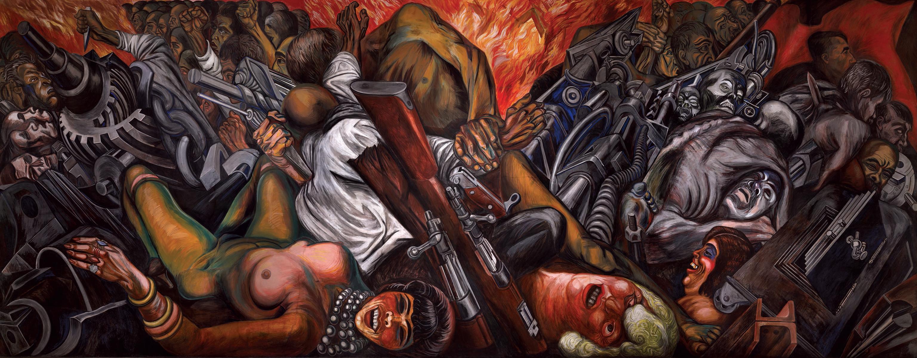 Fant sticas obras para remembrar a jos clemente orozco for El hombre de fuego mural de jose clemente orozco