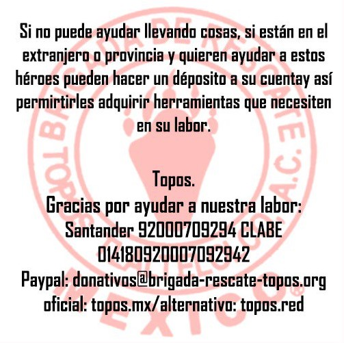 donativos sismo