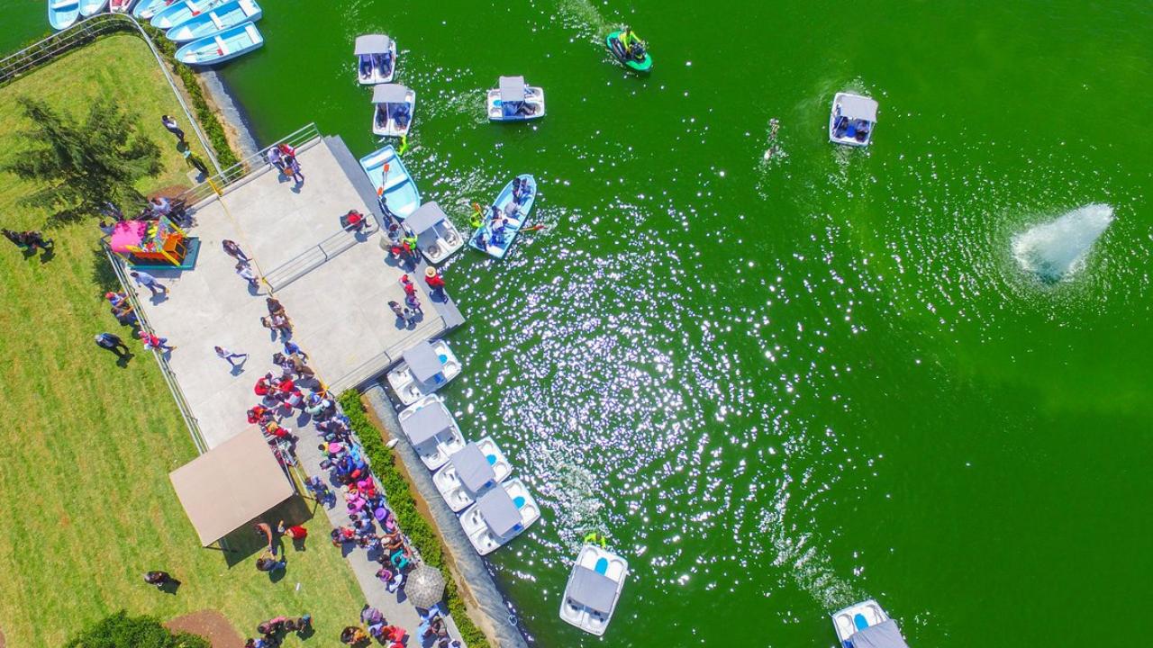 El chimalhuache es un parque ecotur stico con un inmenso for Como construir un lago artificial