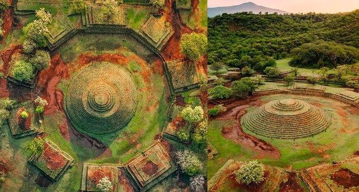 La intrigante pirámide circular de Guachimontones